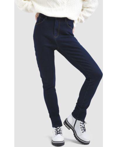 Флисовые джинсы - синие Baon