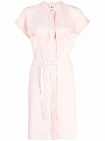 Льняное платье - розовое Stella Mccartney