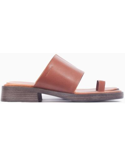 Коричневые кожаные сабо на каблуке Vagabond