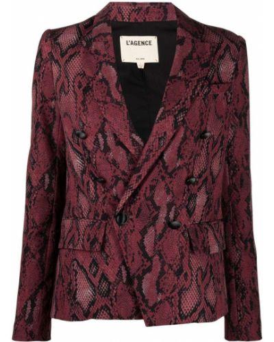 Розовый удлиненный пиджак двубортный на пуговицах L'agence