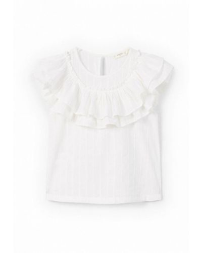 Рубашка белый Mango Kids