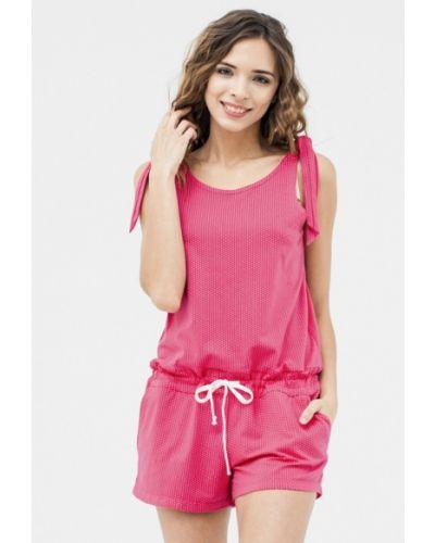 Розовый комбинезон с шортами Mascot
