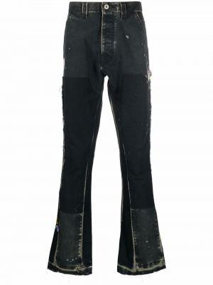 Czarne spodnie z paskiem Gallery Dept.