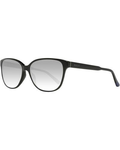 Czarne okulary srebrne Gant