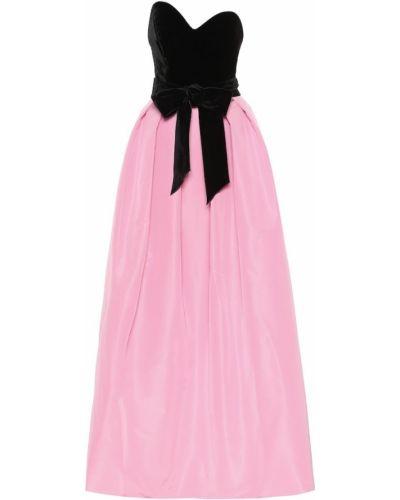 Шелковое платье мини - розовое Monique Lhuillier