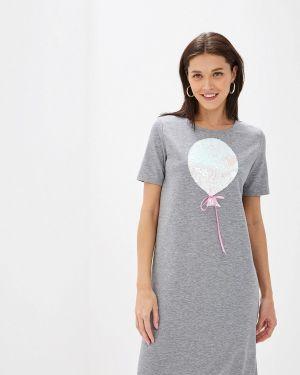 Платье серое футболка Eliseeva Olesya
