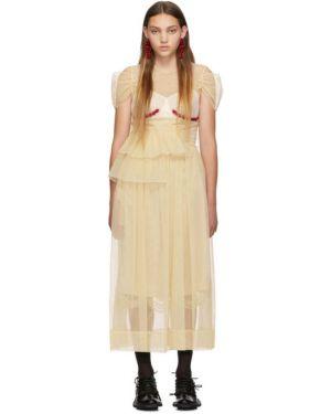 Платье розовое с бисером Simone Rocha