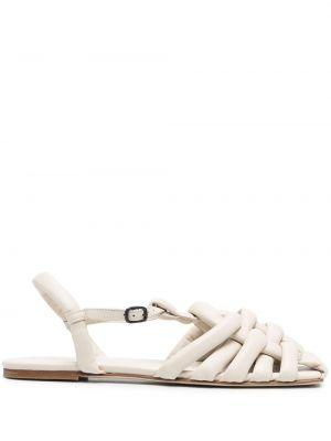 Beżowe sandały skorzane klamry Hereu
