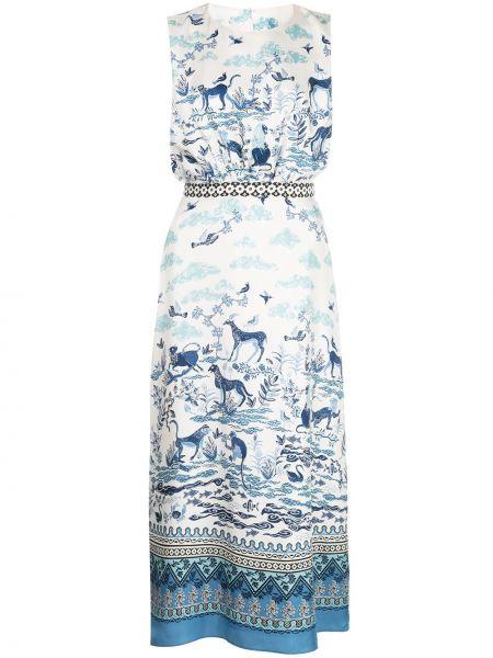 Платье миди на пуговицах с рукавами Saloni