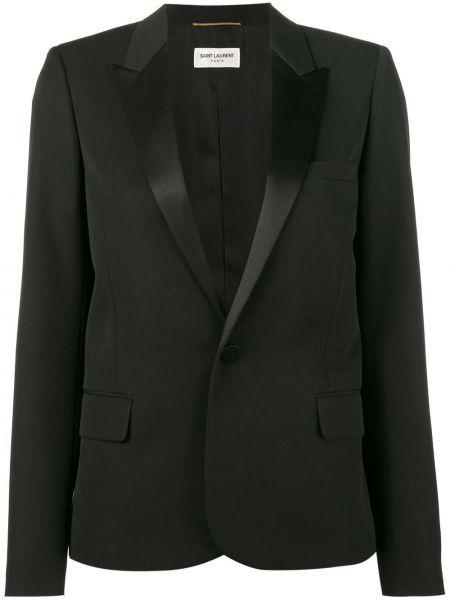 Пиджак черный шерстяной Saint Laurent