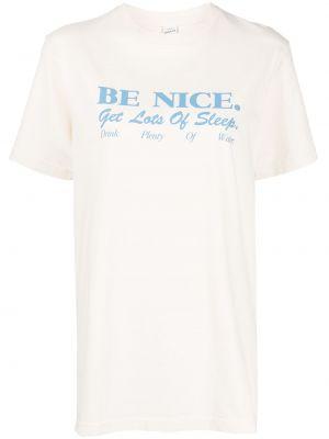 Biała koszulka bawełniana Sporty And Rich