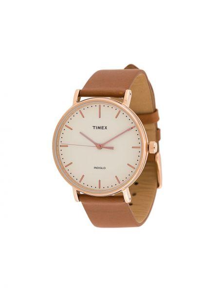Zegarek brązowy szary Timex