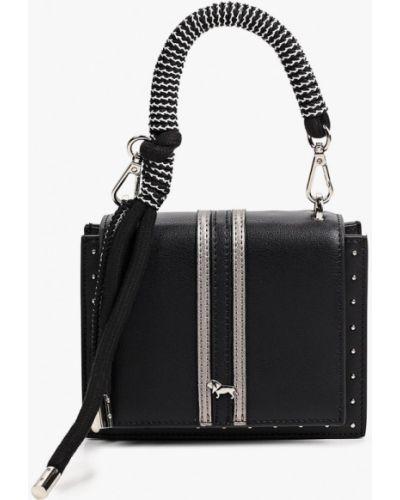 Черная сумка через плечо из натуральной кожи Labbra
