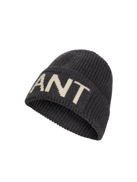 Prążkowana czapka wełniana Gant