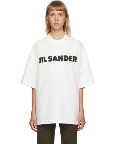 Рубашка с логотипом Jil Sander