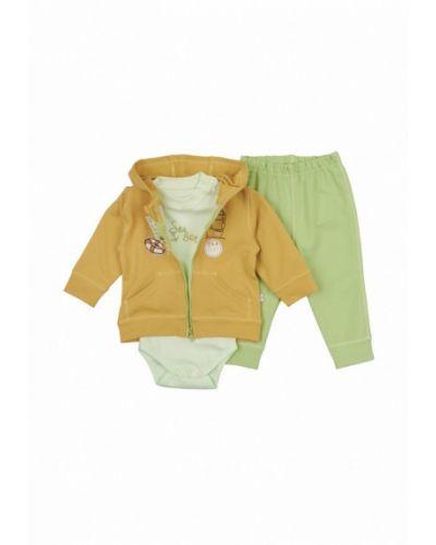 Костюм желтый зеленый фламинго текстиль