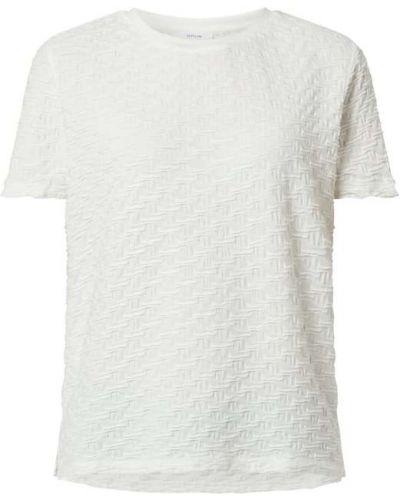 T-shirt z wiskozy - biała Opus