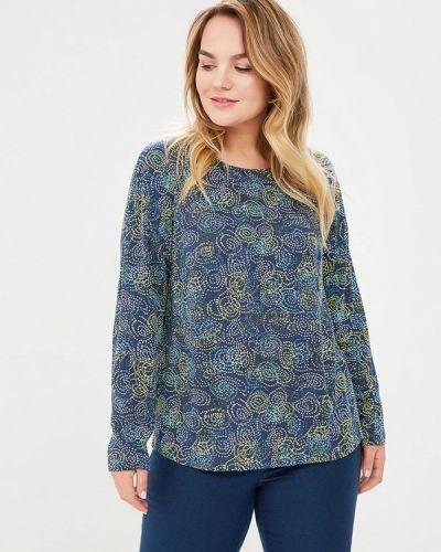 Блузка синяя весенний Bonne Femme