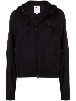 Черная куртка с капюшоном на молнии Y-3