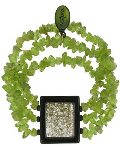 Браслет черный оливковый Nature Bijoux