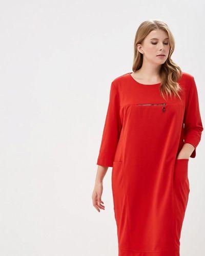Красное повседневное платье Indiano Natural