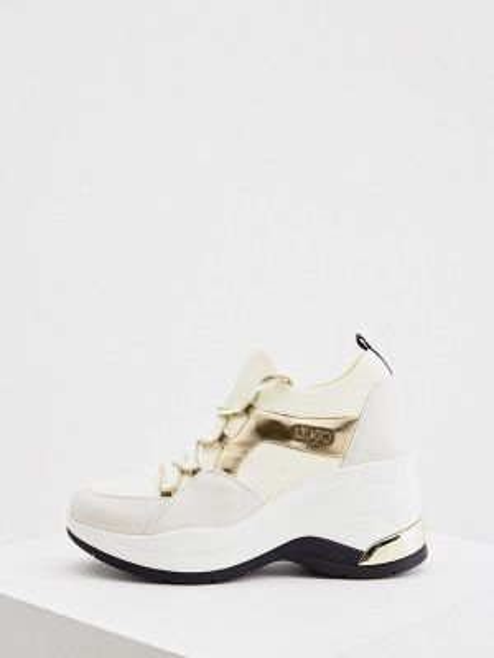 Белые текстильные кроссовки Liu Jo