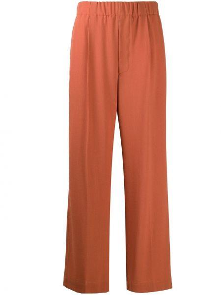 Шерстяные оранжевые свободные брюки свободного кроя с поясом Jejia