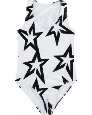 Biały strój kąpielowy z dekoltem w serek bez rękawów Perfect Moment Kids