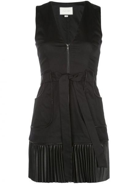 Платье мини с V-образным вырезом на молнии Alexis