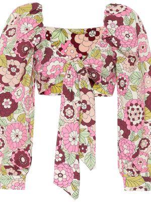 Różowy crop top bawełniany vintage Dodo Bar Or