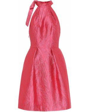 Вечернее платье из парчи коктейльное Monique Lhuillier