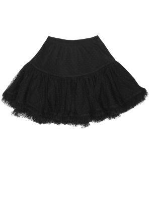 Черная юбка из фатина Bonpoint