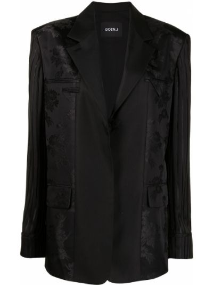 Шерстяной черный классический пиджак на пуговицах Goen.j