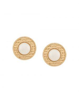 Массивные золотые серьги круглые Givenchy Pre-owned