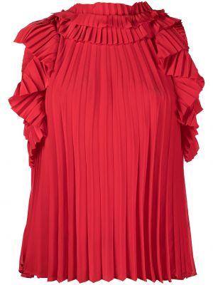 Красная блузка без рукавов со вставками P.a.r.o.s.h.
