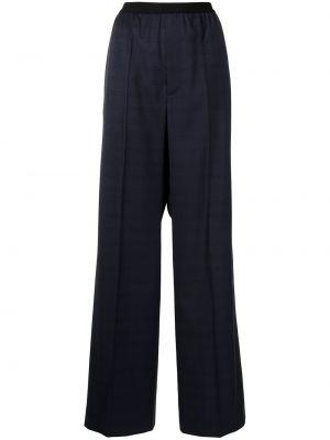 Шерстяные синие брюки с поясом Balenciaga