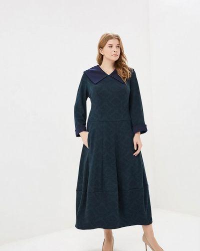 Повседневное платье осеннее зеленый Zar Style