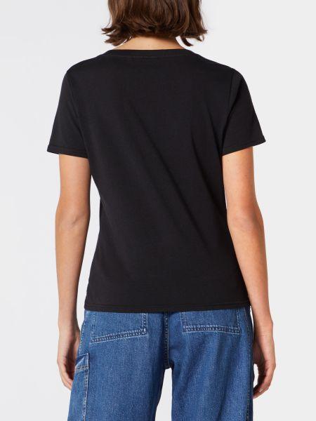Хлопковая базовая черная футболка Wrangler