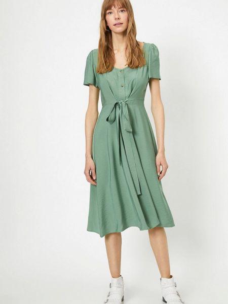 Платье прямое зеленый Koton