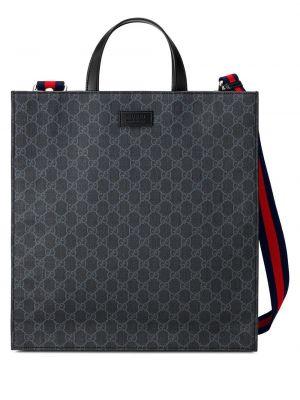 Czarna torba na ramię skórzana Gucci