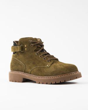 Ботинки зеленые замшевые Gifanni