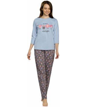 Пижама с брюками с рукавом три четверти пижамный Pelican