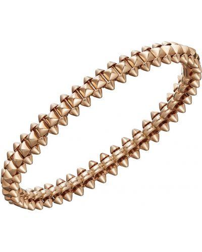 Тонкий золотой браслет золотой Cartier