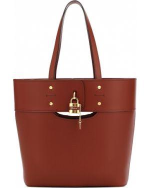 Кожаная сумка шоппер среднего размера Chloé