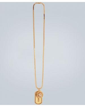 Ожерелье желтый золотой Versace