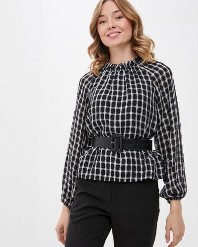 С рукавами черная блузка B.young