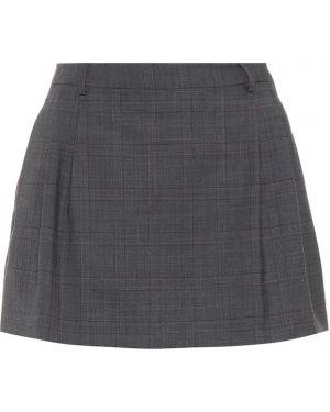 Плиссированная юбка мини Miu Miu