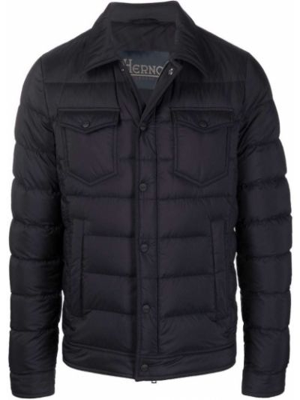 Черная куртка на пуговицах Herno