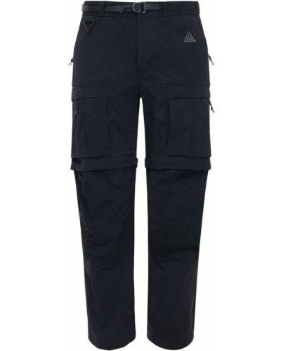 Czarne spodnie z paskiem Nike Acg