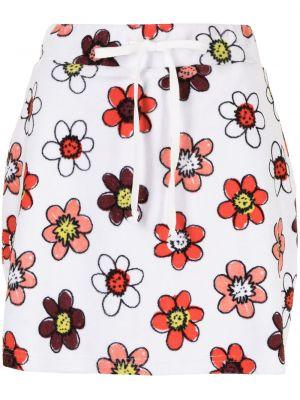 Biała spódnica w kwiaty Miaou